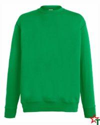 BG110 Kelly Green Мъжка ватена блуза Light Sweat Set-In