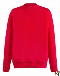 BG110 Red Мъжка ватена блуза Light Sweat Set-In