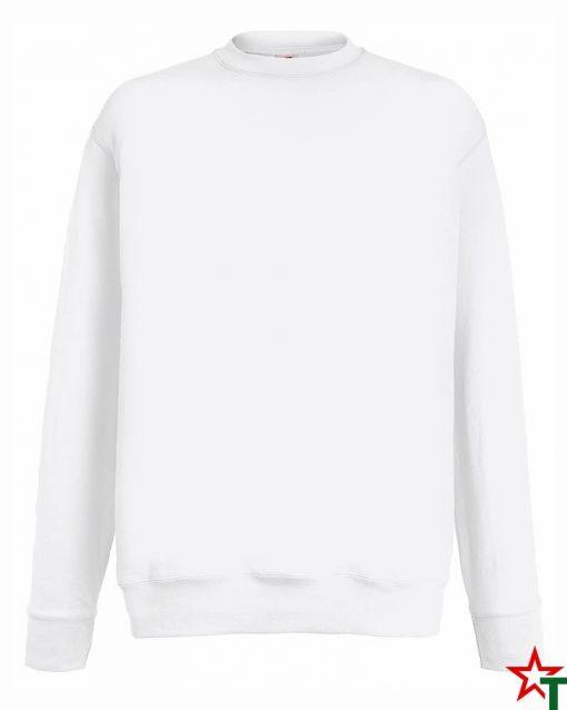 BG110 White Мъжка ватена блуза Light Sweat Set-In