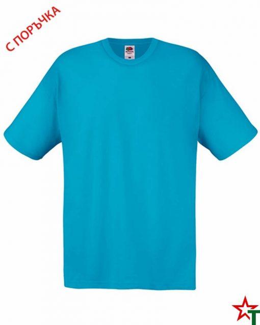 BG393 Azure Blue Детска тениска Softspoon T Kid