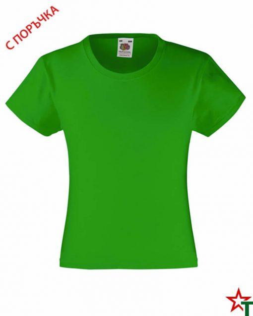 BG493 Kelly Green Детска тениска Valueweight Girl