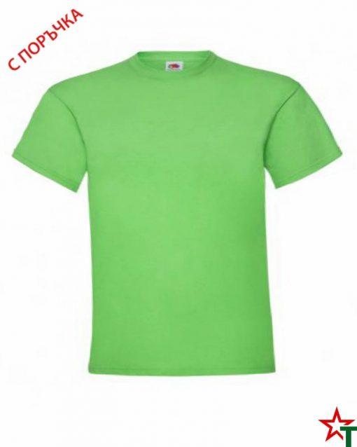 BG493 Lime Детска тениска Valueweight Girl