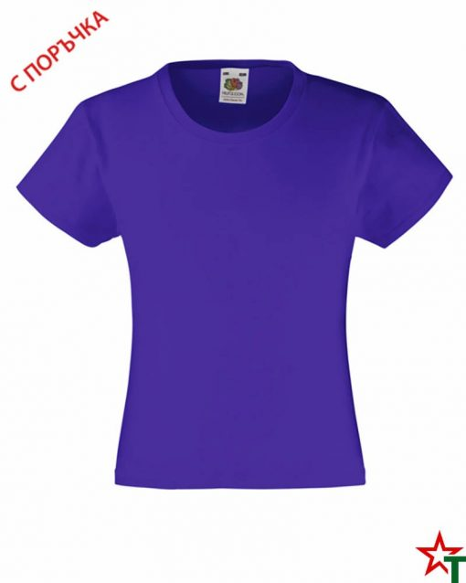 BG493 Purple Детска тениска Valueweight Girl