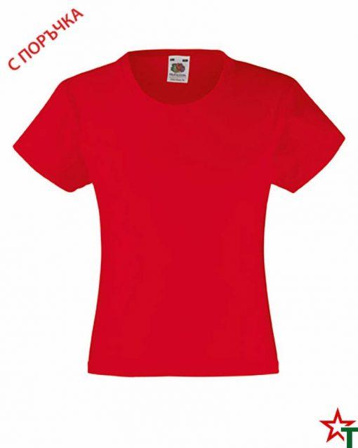 BG493 Red Детска тениска Valueweight Girl