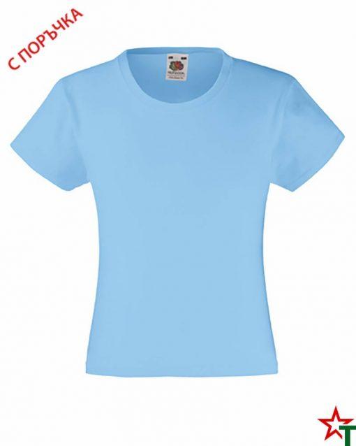 BG493 Sky Blue Детска тениска Valueweight Girl