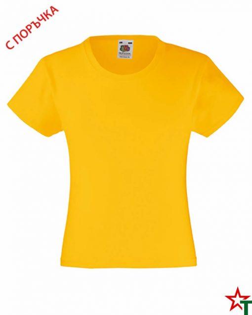 BG493 Sunflower Детска тениска Valueweight Girl