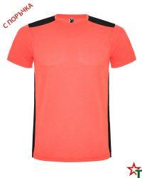 1480 Neon Coral Спортна тениска Datrois