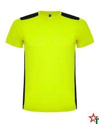 1480 Yellow Neon - Black Спортна тениска Datrois