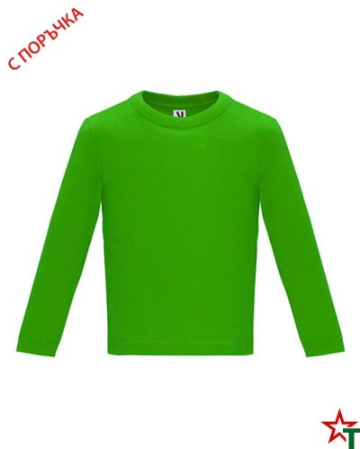 1626 Green Бебешка тениска Baby Longer