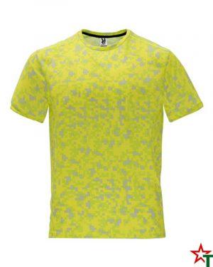 1801 Print Amarillo Fluor Мъжка тениска Assan