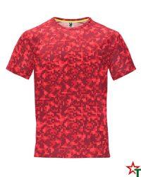 1801 Print Rojo Мъжка тениска Assan