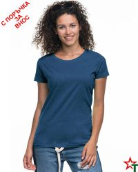 171 Blue Melange 82 Дамска тениска Lady Promo Heavy