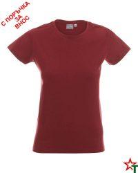 171 Brick Red 72 Дамска тениска Lady Promo Heavy