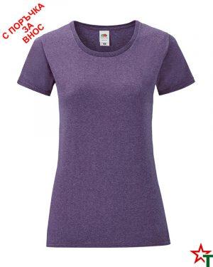 1756 Heather Purple Дамска тениска Icontic T