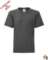 1760 Dark Heather Grey Детска тениска Icontic T