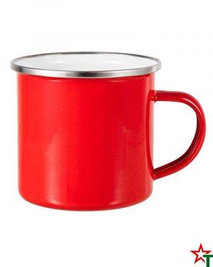 1610 Red Емайлирано канче - чаша
