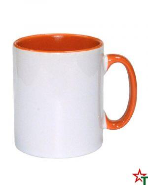 1611 Orange Бяла чаша Color Print