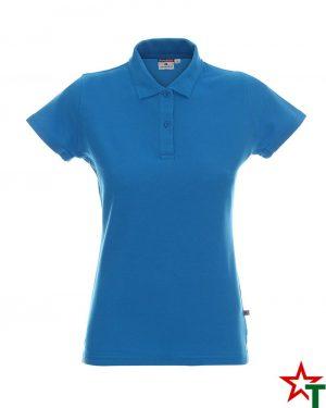BG200 Azure Blue 44 Дамска тениска Lady Polo Cotton