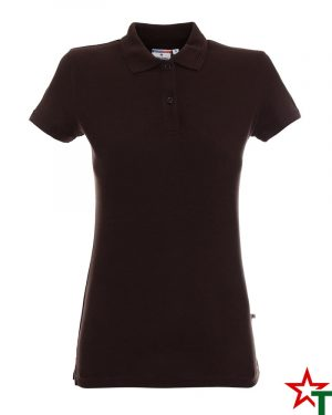 BG200 Brown 61 Дамска тениска Lady Polo Cotton