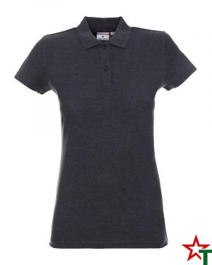 BG200 Dark Graphite Melange 48 Дамска тениска Lady Polo Cotton
