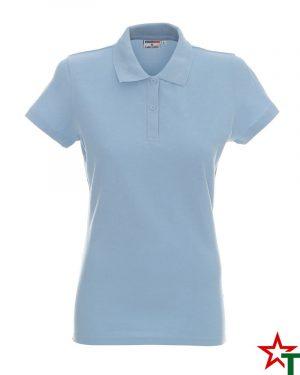 BG200 Sky Blue 46 Дамска тениска Lady Polo Cotton